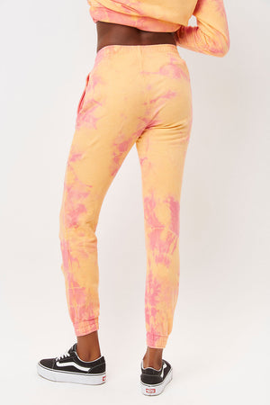 aiden sherbet tie dye slim fit sweatpant with pockets