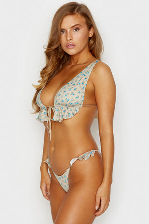 Frankies Bikinis Aliyah Spring Bloom Cheeky Bottom with Ruffle Detail