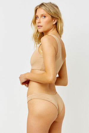barb earth one shoulder bikini