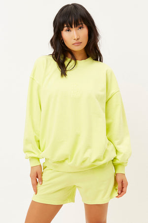 Bennie Lemonade Oversized Crewneck Sweatshirt