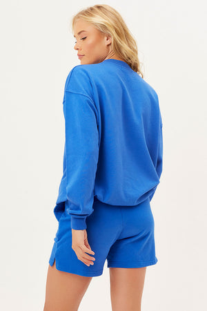 bennie oversized crewneck pacific blue