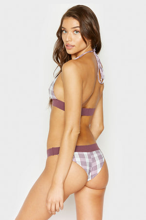 Frankies Bikinis Bobbi Bottom in Tartan Plaid with Cheeky Coverage