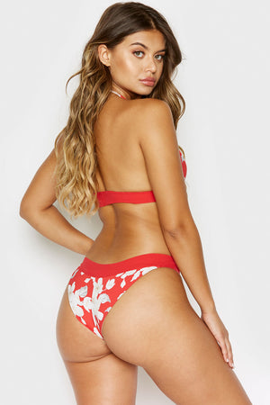 Frankies Bikinis Bobbi Bottom Azalea Floral with Cheeky Coverage