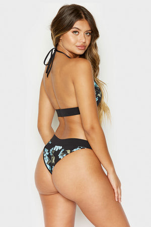 Frankies Bikinis Bobbi Bottom in Nikko Floral with Cheeky Coverage