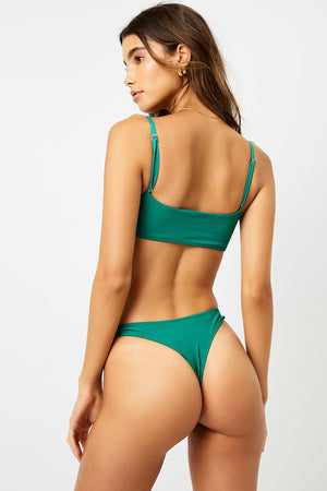 Frankies Bikinis Boots Emerald High Leg Skimpy Bottom