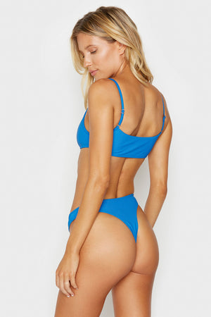 Frankies Bikinis Boots Cobalt Ribbed Bottom