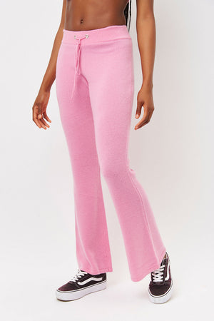 breakwater rose pink cashmere flare pants