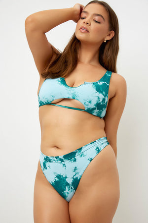 Frankies Bikinis Briar Emerald Tie Dye Skimpy Bottom