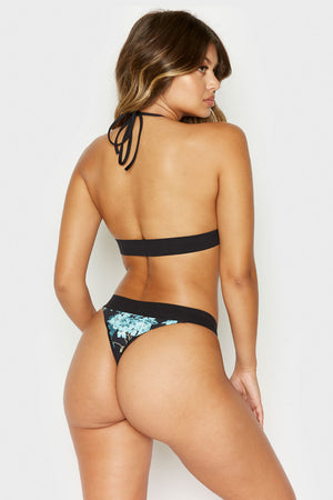 Frankies Bikinis Britt Bottom in Nikko Floral with Skimpy Coverage