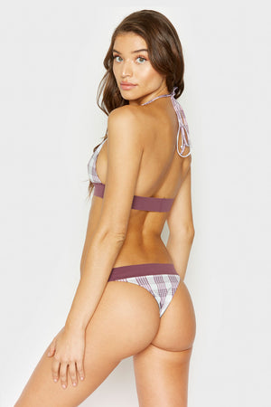 Frankies Bikinis Britt Bottom in Tartan Plaid with Skimpy Coverage