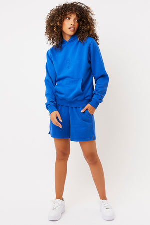 burl pacific blue oversized sweatshort