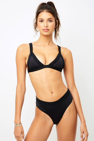 Frankies Bikinis Cali Black Triangle Top
