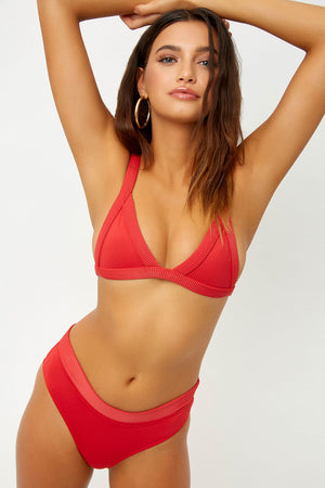 Frankies Bikinis Cali Cherry Triangle Top