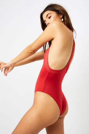 Frankies Bikinis Charlotte Cherry Cheeky One Piece