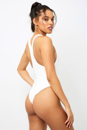 Frankies Bikinis Charlotte White One Piece