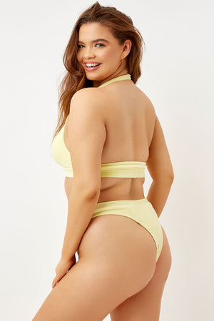 Frankies Bikinis Claire Buttercup High Waist Terry Bottom