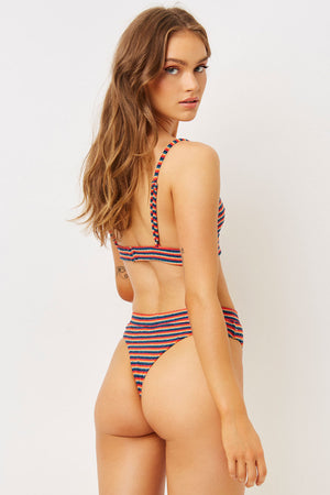 Claire Sunset Stripe Terry High Waist Skimpy Terry Bottom