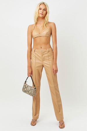 claudia earth vegan leather bra top