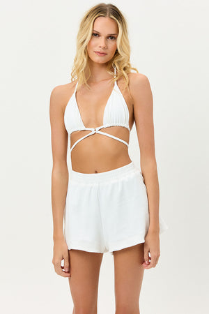 Coco White Terry Short
