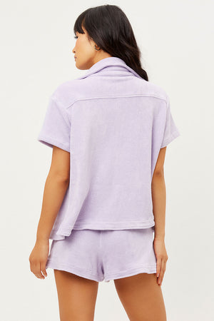 Coco Lilac Terry Button up Shirt