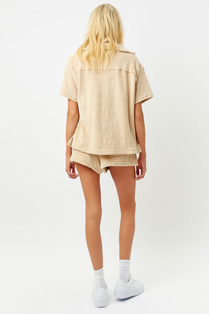 Coco Sand Terry Button up Shirt