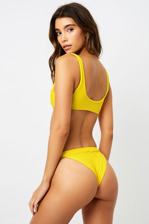 Frankies Bikinis Cole Amber Ribbed Cheeky Bottom