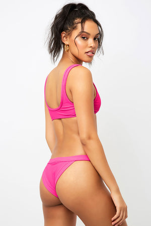 Frankies Bikinis Cole Fuchsia Cheeky Bottom