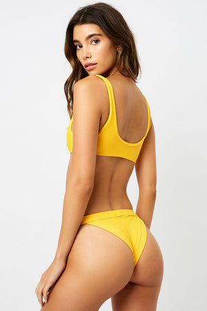 Frankies Bikinis Cole Squeeze Ribbed Cheeky Bottom