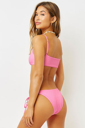 Frankies Bikinis Connor Bubblegum Side Tie Cheeky Bottom