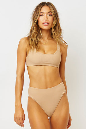 Connor Earth Ribbed Bralette Top