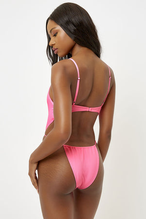 Frankies Bikinis Croft Bubblegum High Leg Skimpy One Piece