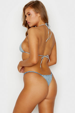 Frankies Bikinis Daisy Denim Skimpy Bottom