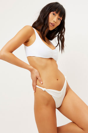 Dexter White V-cut Skimpy Bottom