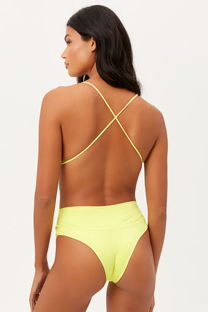Dreamy Lemonade High Waist Cheeky Bottom