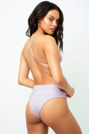 Frankies Bikinis Dream Orchid Cheeky High Waist Bottom