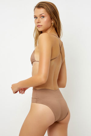 Frankies Bikinis Dylan Brownie High Waisted Classic Bottom
