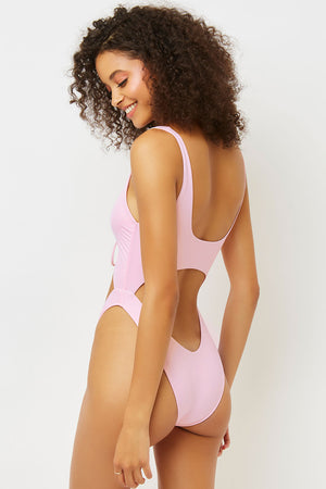Emma One Piece Love Pink With Cut Out Middle Section