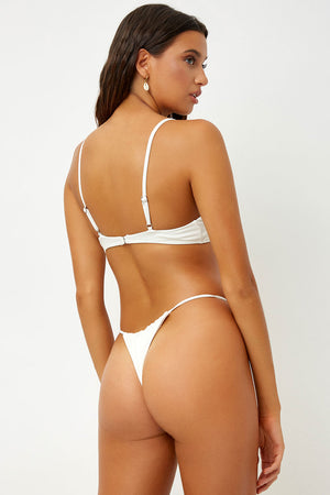 Frankies Bikinis Francesca White Triangle Top