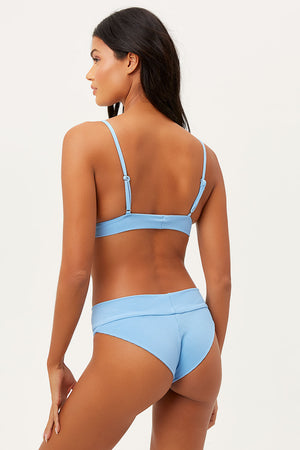 Gavin Chambray Ribbed Scoop Bikini Top