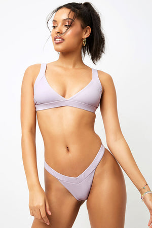 Frankies Bikinis Georgia Orchid V shape Ribbed Skimpy Bottom