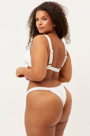 georgia white ribbed skimpy bottom
