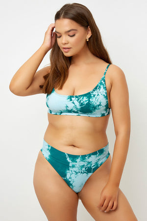 Frankies Bikinis Gio Top Emerald Tie Dye