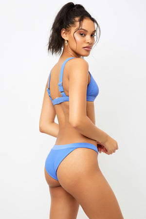 Frankies Bikinis Grace Amparo V shape Ribbed Cheeky Bottom