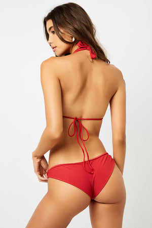 Frankies Bikinis Greer Cherry Ribbed Cheeky Bottom