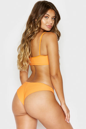 Frankies Bikinis Greer Citrus Ribbed Cheeky Bottom