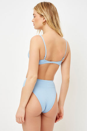 Frankies Bikinis Grotto Lagoon High Waist Cheeky Bottom
