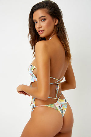 Frankies Bikinis Halo Aloha Skimpy String Bottom