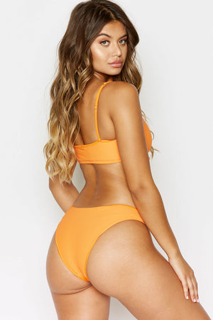 Frankies Bikinis Hanalei Citrus Ribbed Booty Bottom