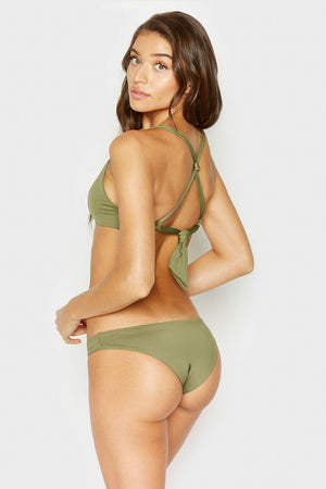 Frankies Bikinis Harley Olive Stretch Seamless Skimpy Bottom