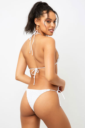 Frankies Bikinis Haze White Crochet Skimpy Bottom